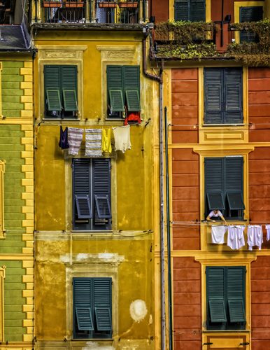Portofino Laundry Day, by Tom Klingele. All rights reserved.