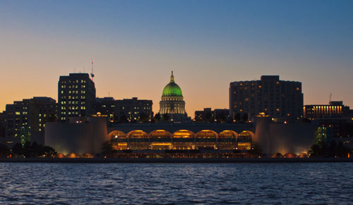 Madison Skyline & Green Dome, by Kurt Westbrook. All rights reserved.