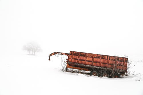 Gooseneck Wagon in Snow, by Paul Thoresen. All rights reserved.