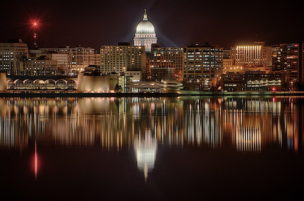 Madison Skyline at Night, by Michael Rothschild. All rights reserved.