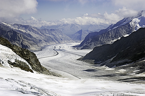 Aletsch Glacier, Switzerland, by David Peterson. All rights reserved.