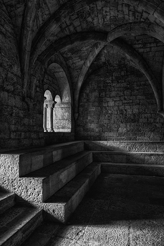 Thoronet Abbey Chapter Room, by Christopher Priebe. All rights reserved.