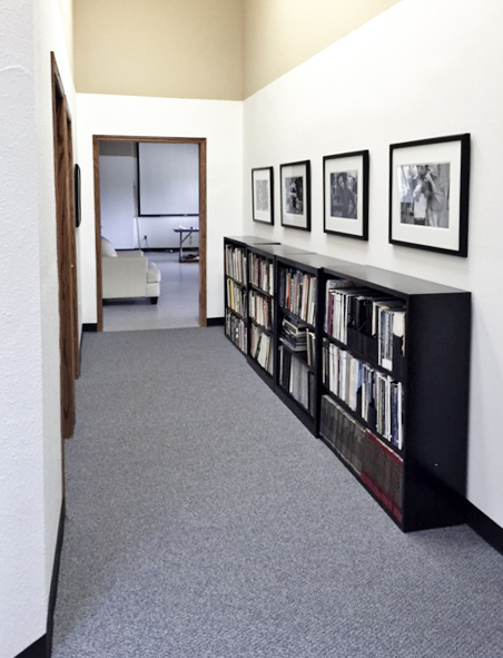 PhotoMidwest library in hallway at Rayovac Dr. Photo by Mark Golbach, all rights reserved.