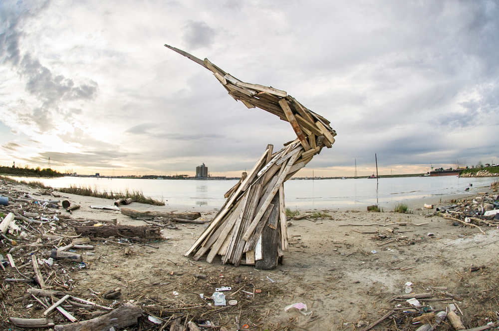 Wood Debris Spiral, by Jeremy Underwood. All rights reserved.