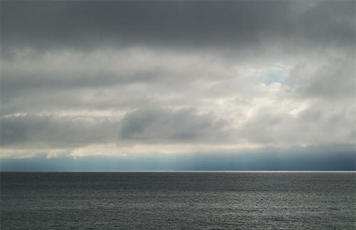 Silver Lining, Lake Michigan, by Ann Thering. All rights reserved.