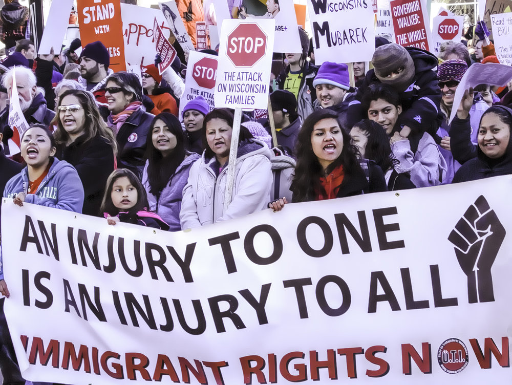 "Immigrant Rights Now  by Diane Kravetz.  All rights reserved.  ""ORGANIZE AGITATE EDUCATE must be our war cry.""    - Susan B Anthony"