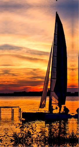 Sunset Sail Lake Monona, by Steven Ralser. All rights reserved.
