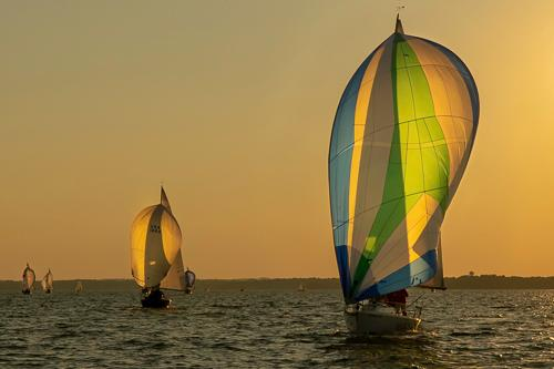 Wednesday Night Regatta on Lake Mendota by Marty Zechman. All rights reserved.