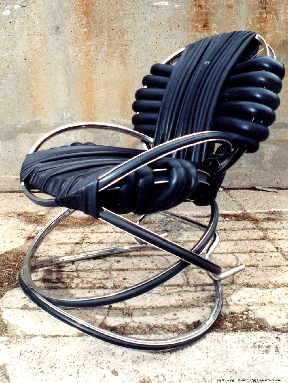 Bicycle Wheel Rocking Chair #2