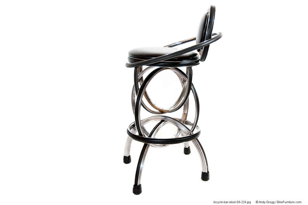 S-2 Bar Stool, non-swivel, with back