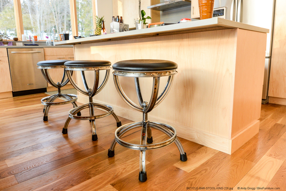 Bicycle Wheel Barstool - Swivel 2