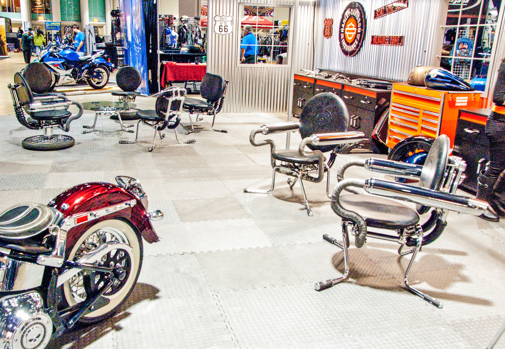 International Motorcycle Shows  - Harley-Davidson / Progressive Insurance Booth 2012