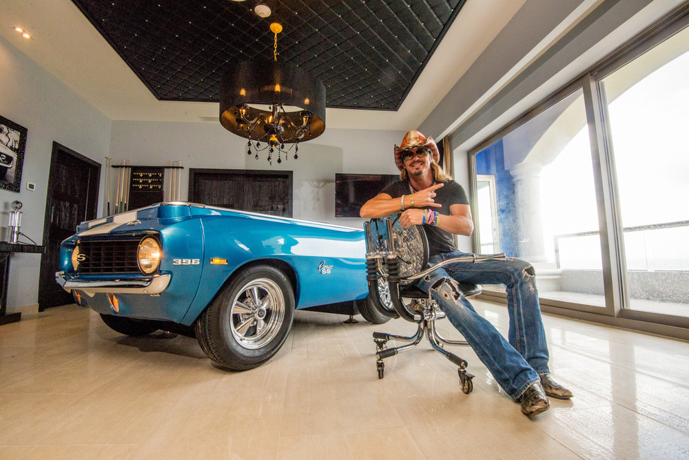 Hard Rock Hotel Riviera Maya, Mexico - Bret Michaels Rock Star Suite - Custom Motorcycle Chair: Beach Star Roller Thank you, Bret!