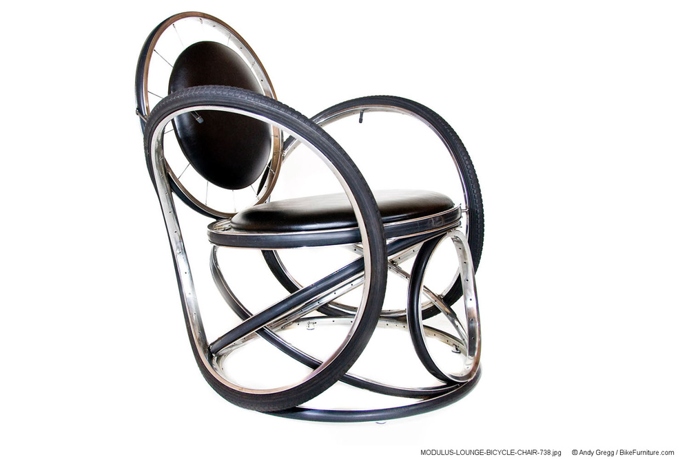 """I can make this version of the Modulus chair with an 18"""" seat height. I know I can do it with vinyl cushions, and I might be able to do it with inner-tubes like those on the Stuffed Chair that I have completed for you."""