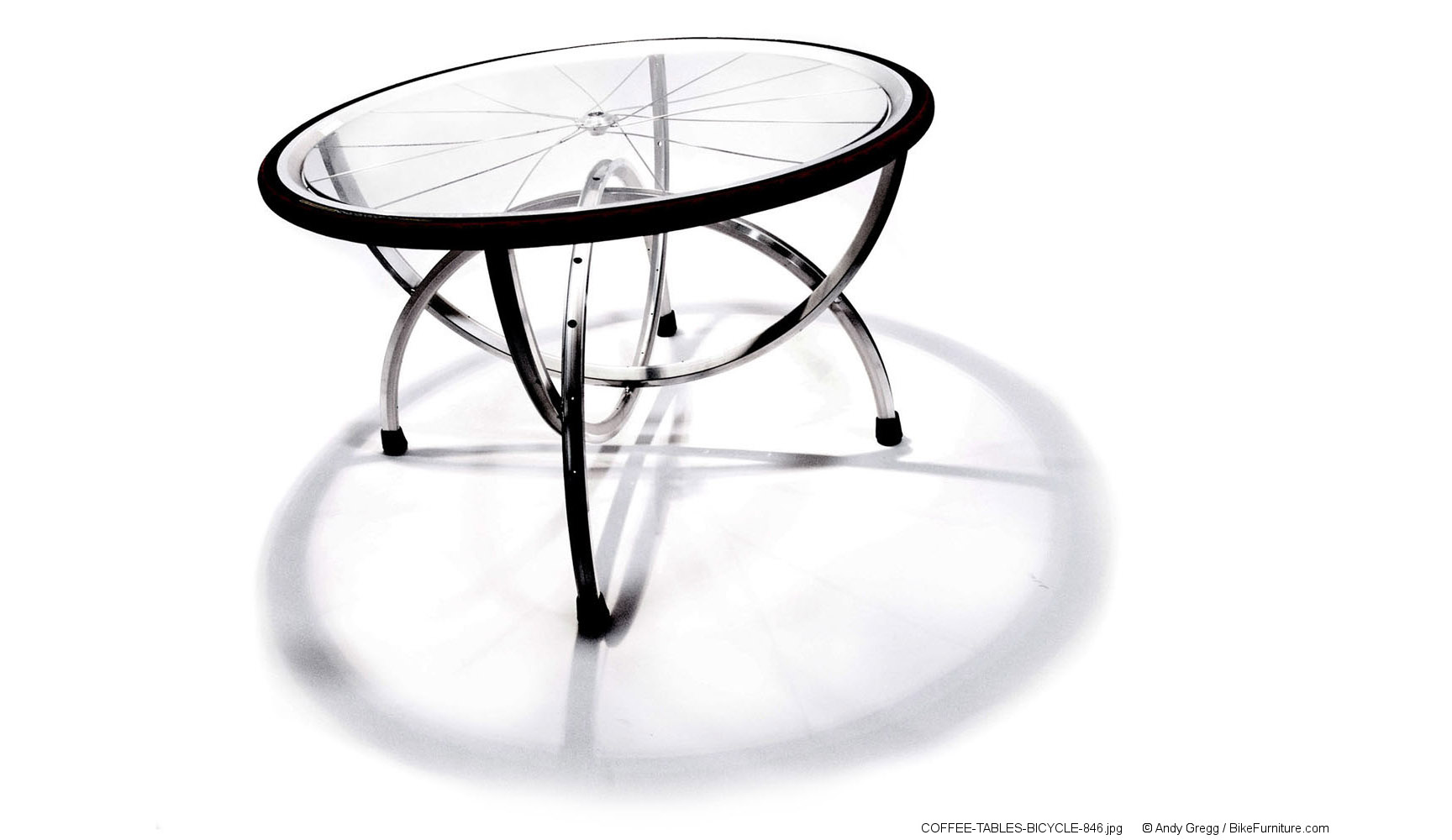 Reused Bicycle Part Table   S 2 Aluminum Coffee Table