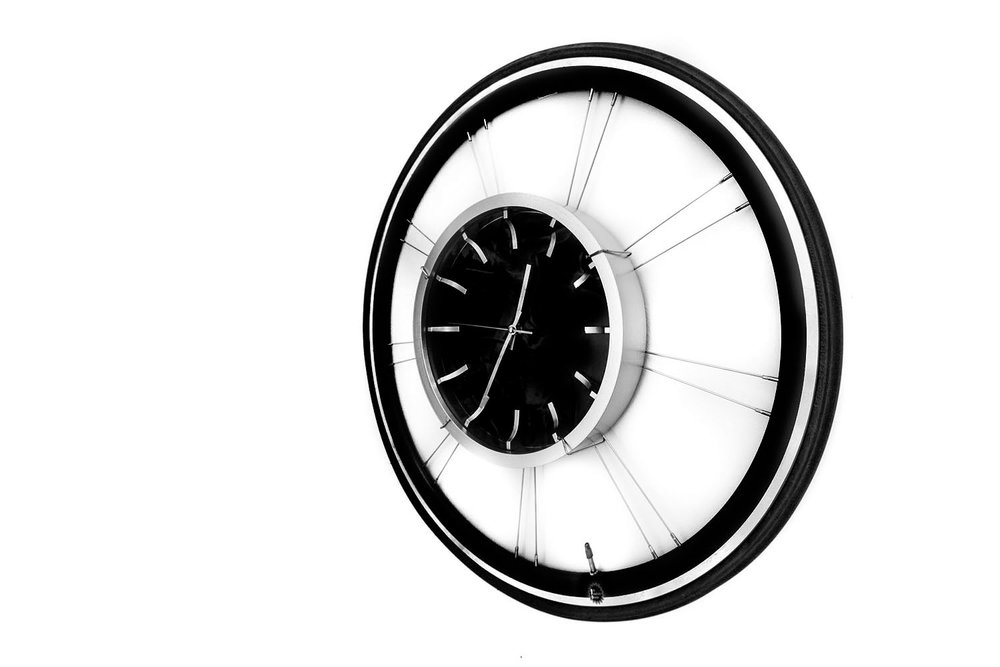 Bike Wheel Clock - Red