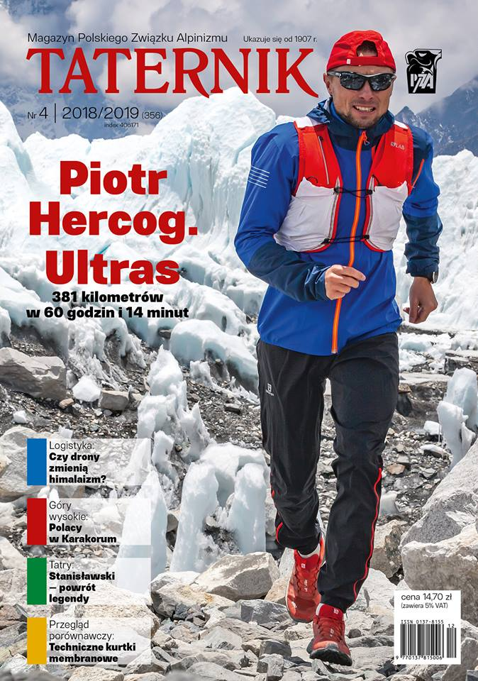 Cover of Taternik magazine, also with the trail runner Piotr Hercog.