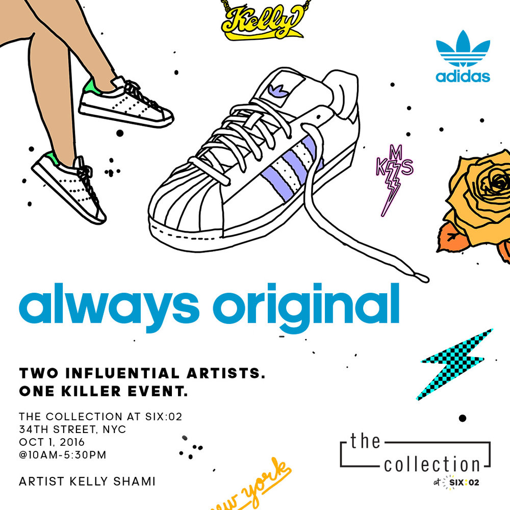 Join me tomorrow in NYC with Adidas + SIX02 as they launch The Collection at SIX02.  I will be customizing shoes all day as well as showcasing previously customized shoes! Be there!