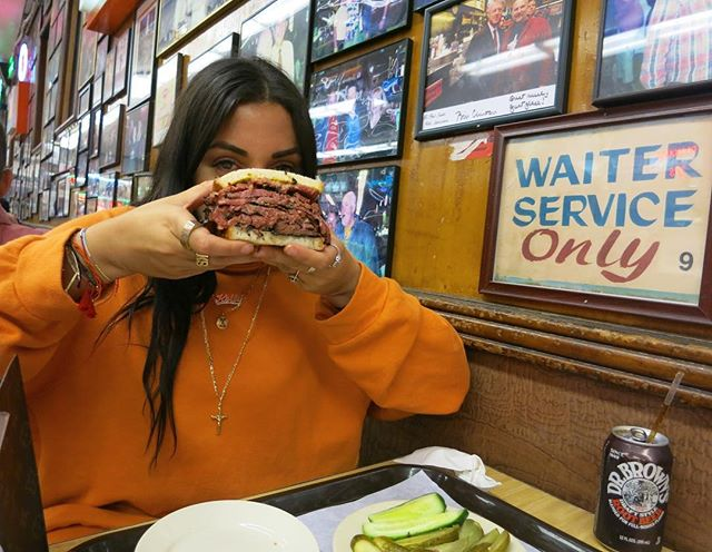 A girl and her sandwich