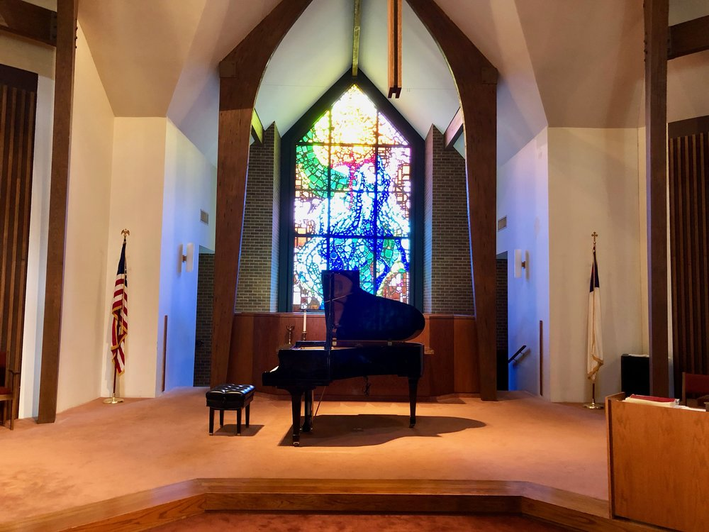 first christian church in baton rouge has a small kawai, with a big sustaining sound.