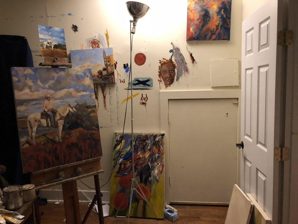 i stayed with artist Dub Lee. this is his studio