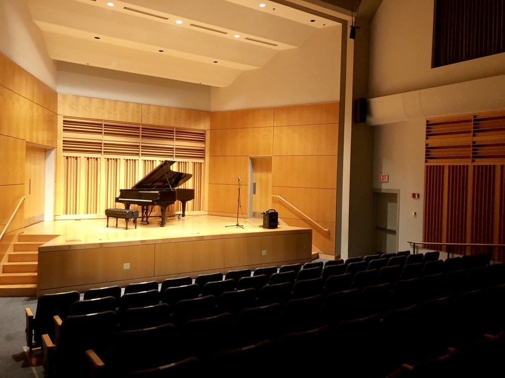 the recital hall at ISU in terre haute