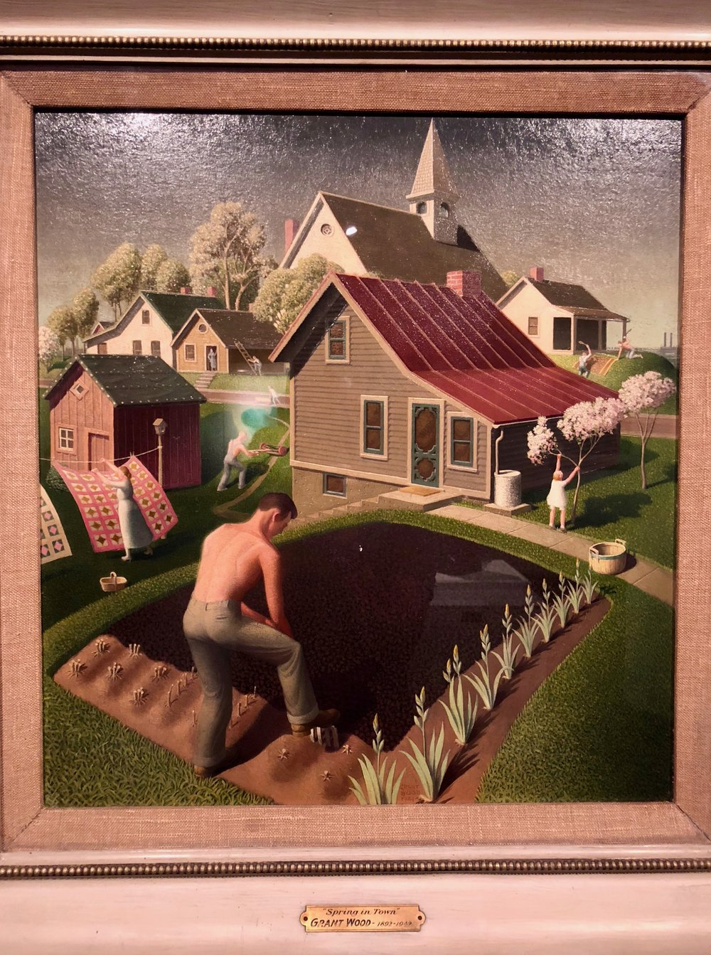 They have Grant Wood's last painting, which just returned from his major exhibition at the Whitney.