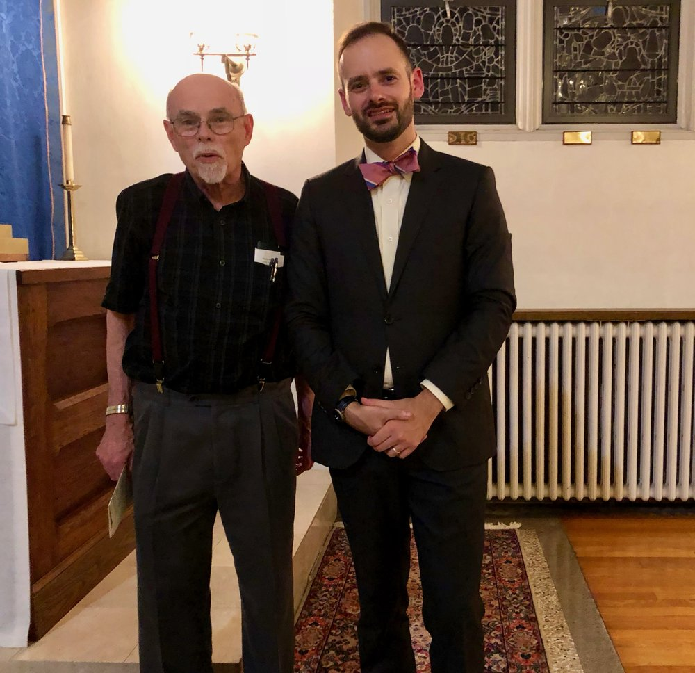 Steven Smith, retired piano faculty from Penn State, was at the concert. he recently recorded the entire Beethoven sonatas and major variations
