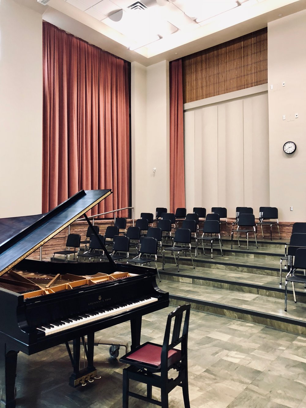 the recital hall  / choir room