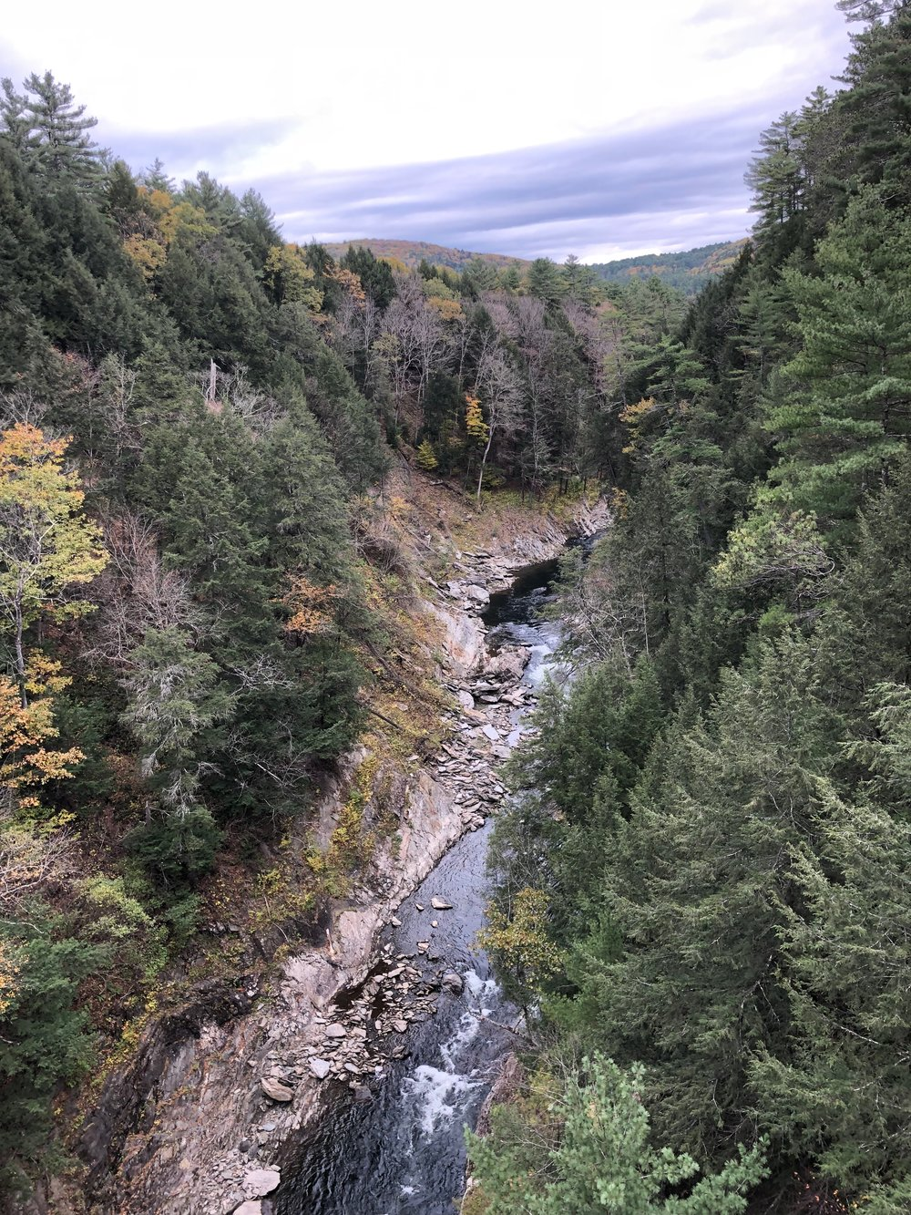 quechee gorge, vermont's little grand canyon!