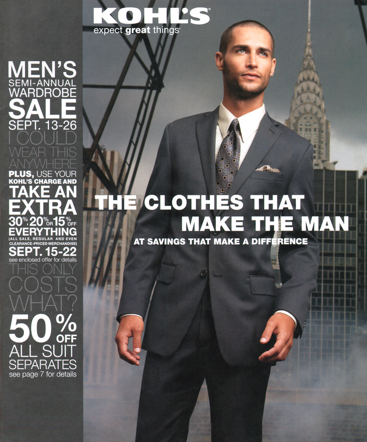 MEN'S CATALOG COVER  /  PHOTOGRAPHY: JIM MALUCCI