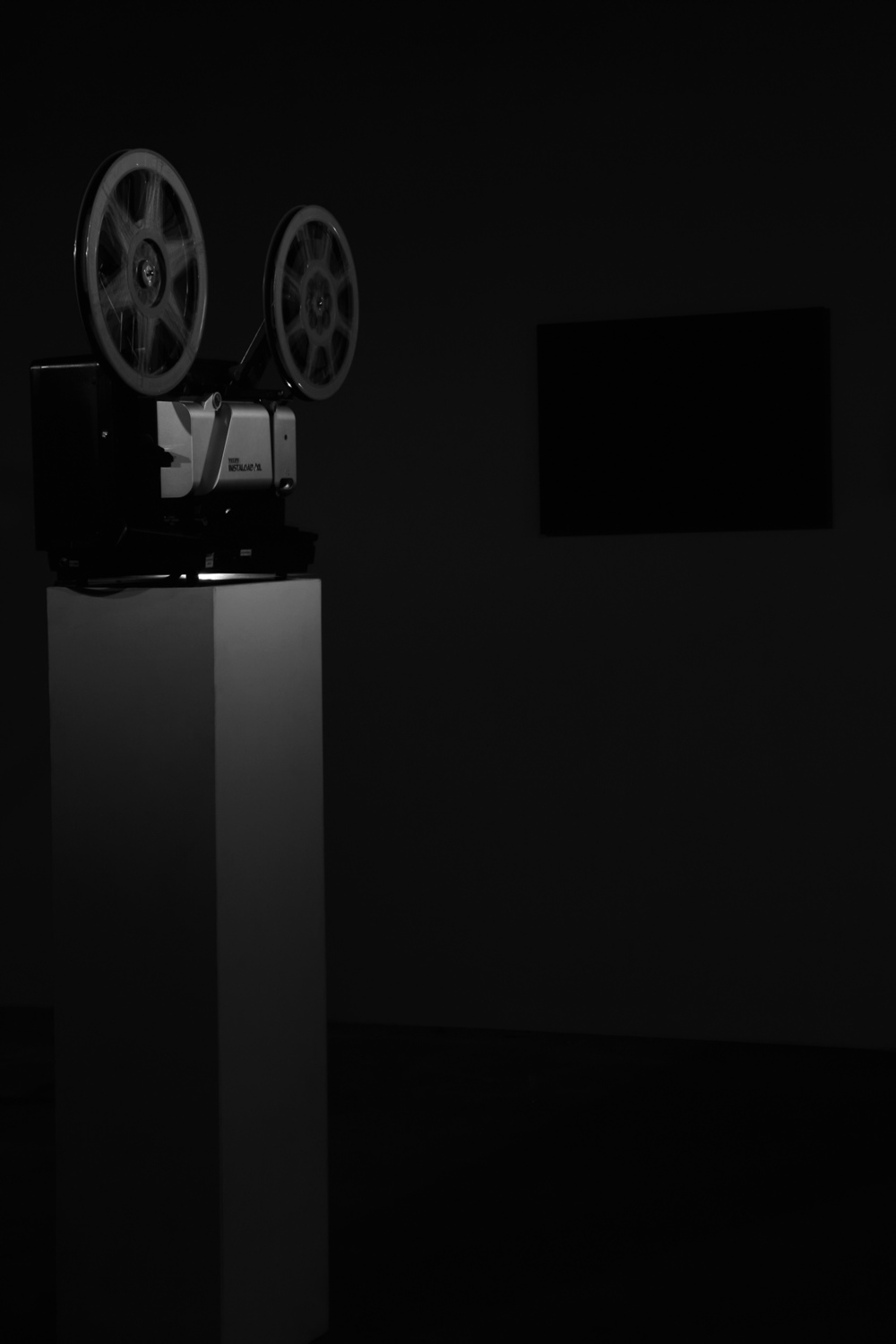 "Empty Form, 2008, 16mm film, (black & white, stereo), projection screen 66 x 90 cm., 5 minutes A 16mm film projects only a black frame onto a small screen during a recitation in Russian of Kazimir Malevich's essay ""Художник и кино"" (""The Artist and The Cinema"") as the soundtrack."