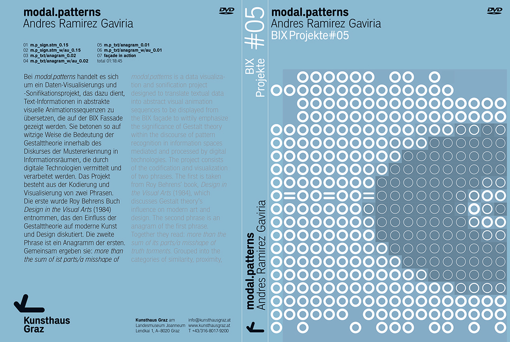 Modal Patterns, 2006, published by Landesmuseum Joanneum GmbH