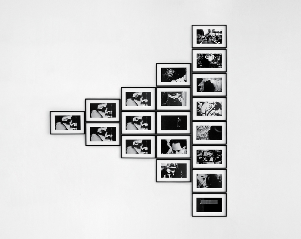 Order Is Numbers (Storyboard), 2015, 19 Silver Gelatin Prints (each 22 x 33 cm) Darren Aronofsky's 1998 science fiction film Pi in 19 frames.