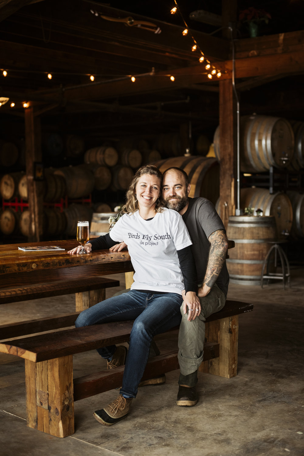 Co-Owners Shawn & Lindsay Johnson of Birds Fly South Ale Project for Beer Advocate