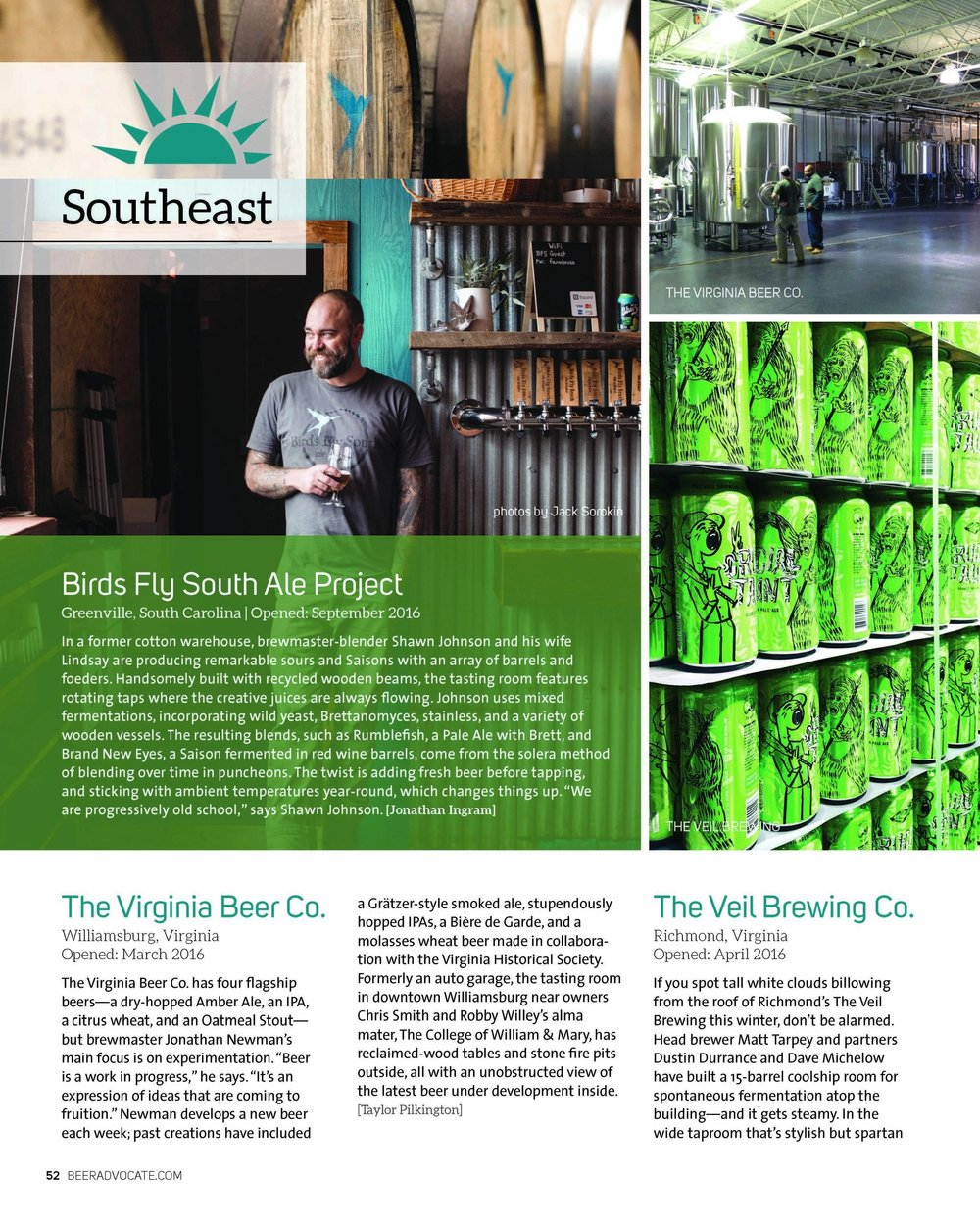Beer Advocate Magazine Issue #120 2017 | Portrait of Shawn Johnson of Birds Fly South Ale Project BFS beer | Photography by Jack Sorokin