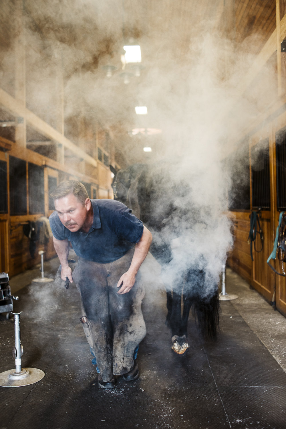 horse farrier jack sorokin photography asheville new york north salem barn horse portrait man horseshoer