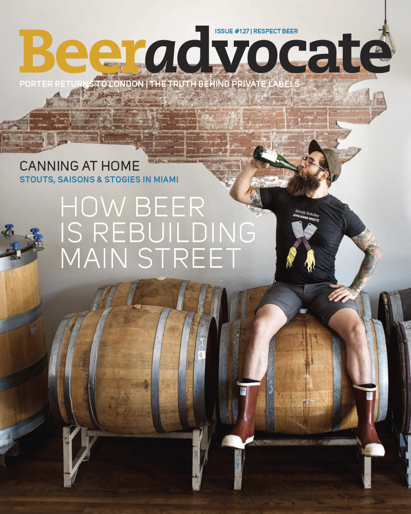 beer advocate magazine cover august 2017 jack flame sorokin fonta flora brewery brewing beer editorial commercial photographer asheville north carolina