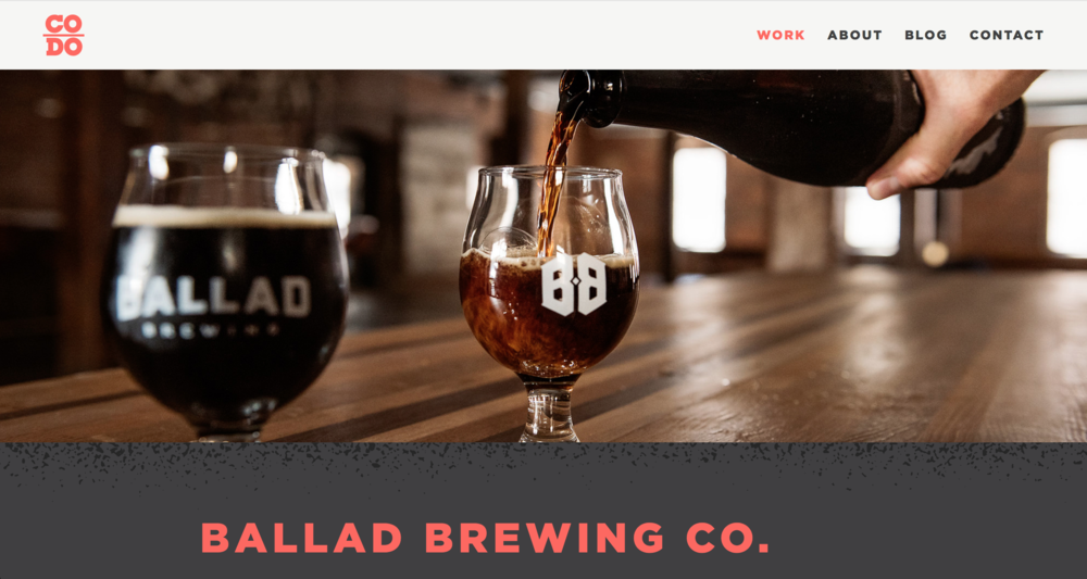 Ballad Brewing Jack Sorokin Photography Beer Advocate CODO Design Branding