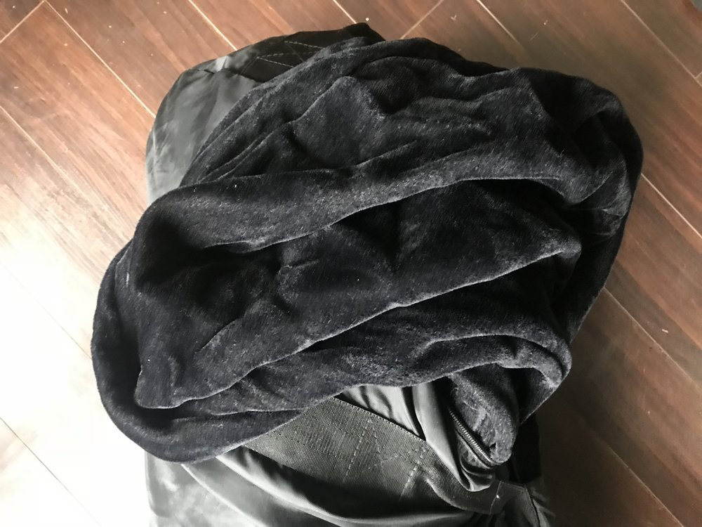 Black velvet like fabric ( Creates absolute black background)