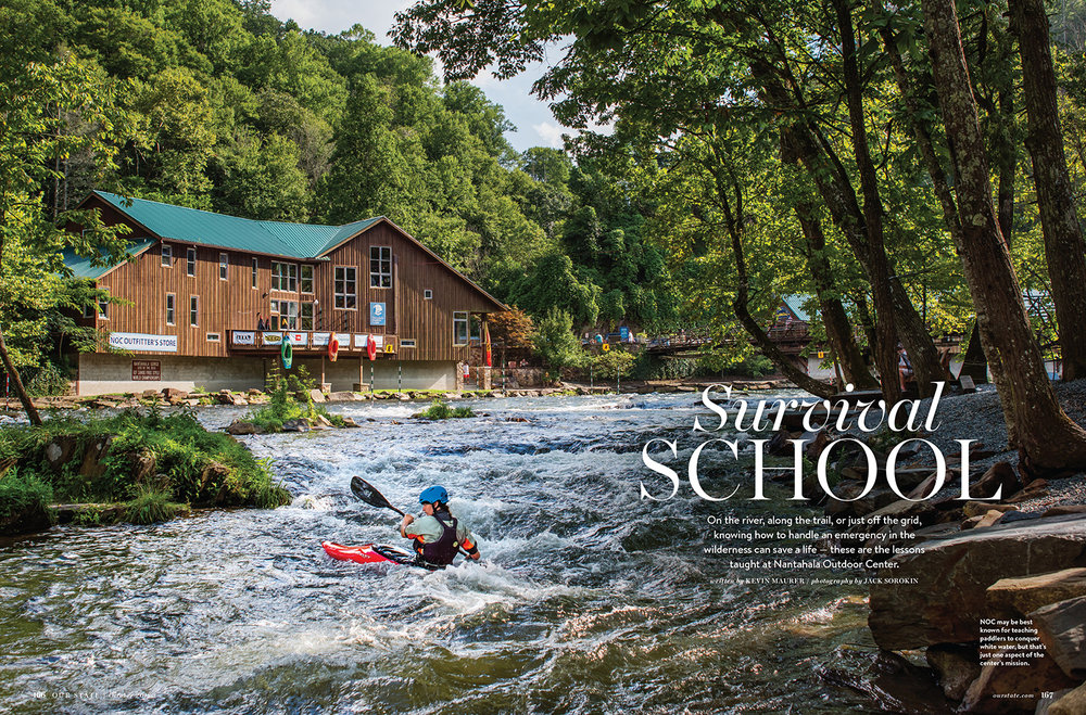 Jack Sorokin Our State Magazine NOC Nantahala Outdoor Center WNC North Carolina Forest Photography Editorial Published