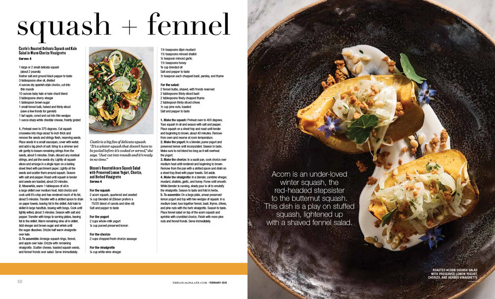 The Local Palate Magazine Asheville Sheri Castle Jack Sorokin Flame Photography Commercial Editorial Cooks A Tale of Chef Food squash