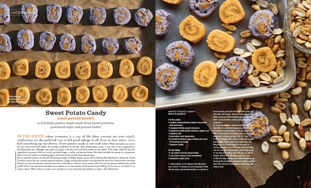 The Local Palate Magazine Asheville Jack Sorokin Flame Photography Photographer commercial editorial sweet potato candy Buxton hall BBQ