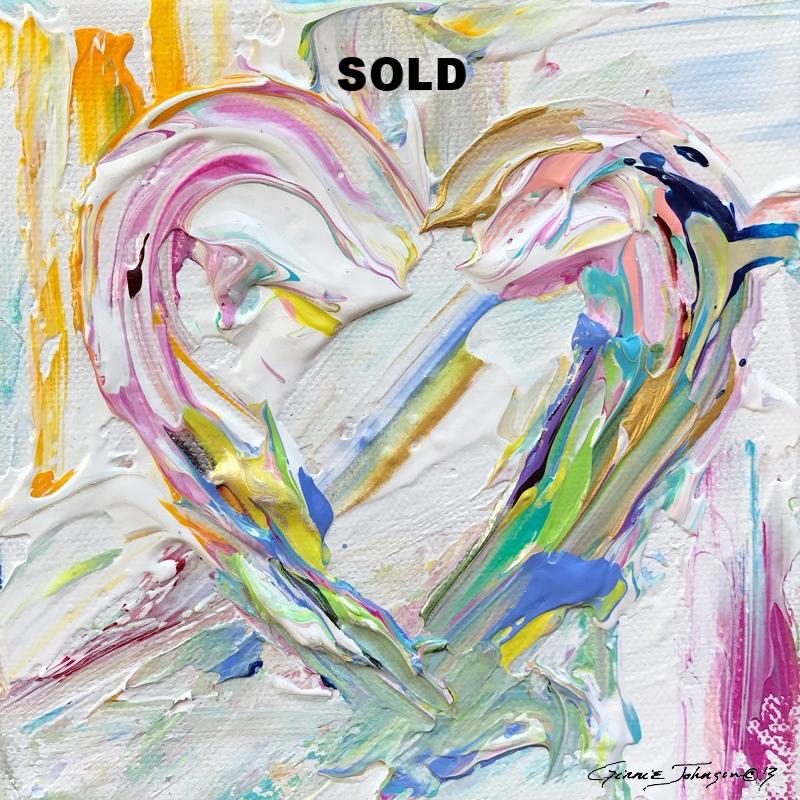 Heart (white pastel)