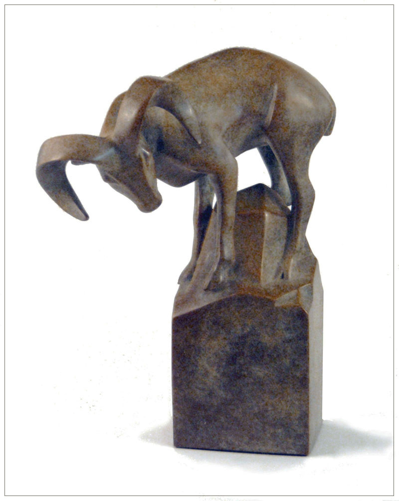 "Bighorn Sheep - © 2010 Kristine Taylor, Bronze, edition of 15, 9.5""H x 6""L x 6""W"