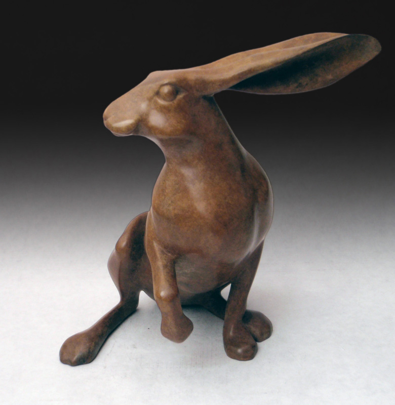 "Hare - © 2012 Kristine Taylor, Bronze, edition of 15, 7.5""H x 5""L x 7""W"