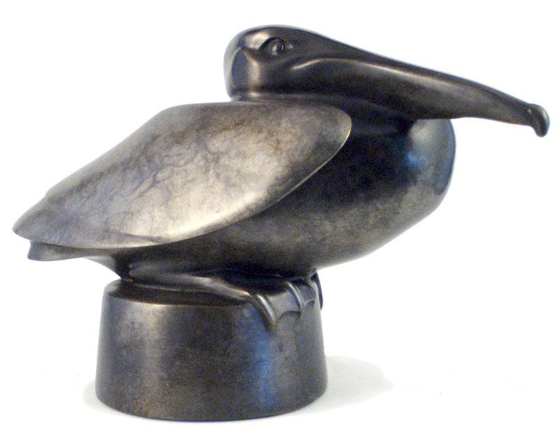 "Pelican – ©Kristine Taylor,Bronze, edition of 20, 6""H x 9.5""L x 5""W"