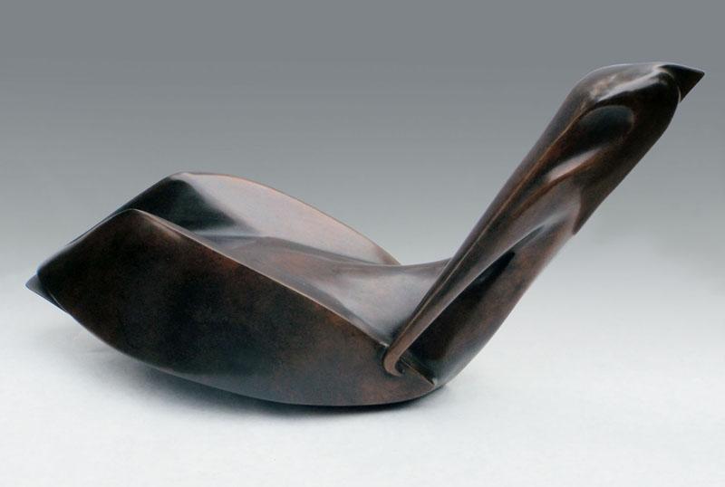 """Deco Pelican - © 2013 Kristine Taylor, Bronze, edition of 15, 6.5""""H x 15""""L x 6""""W"""