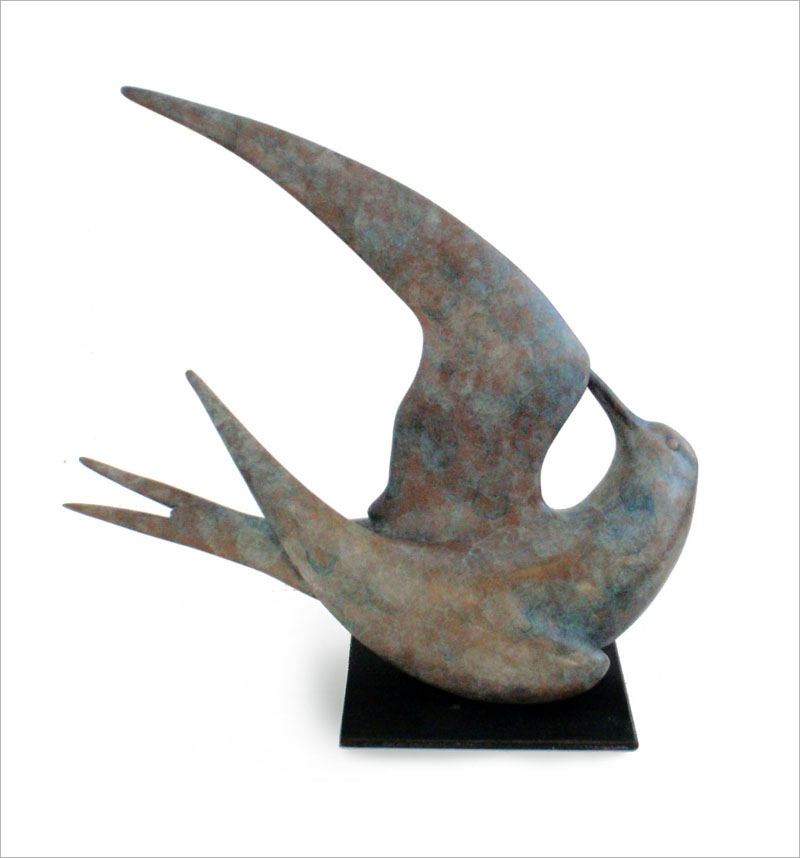 """Tern - © 2013 Kristine Taylor, Bronze, edition of 15, 9.5""""H x 10.5""""L x 5""""W"""