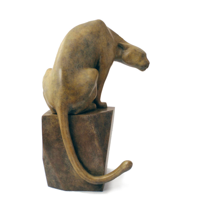"Cougar  - © 2012 Kristine Taylor, Bronze, edition of 15, 11""H x 8.5""L x 7""W"